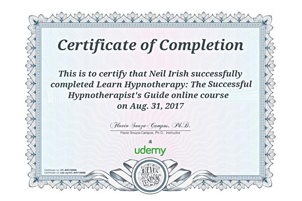 Successful Hypnotherapist's Certification