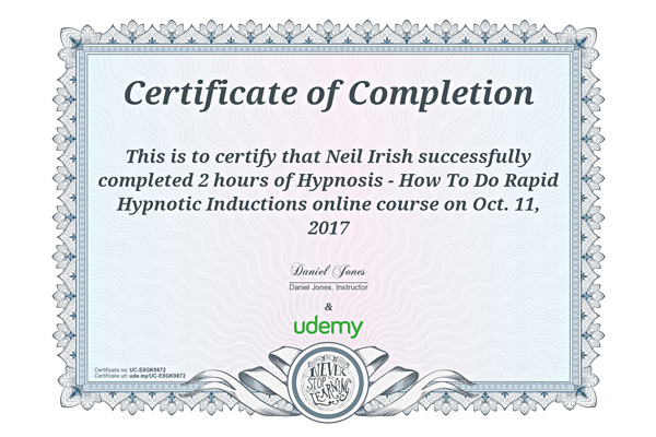 Rapid Hypnotic Inductions Diploma